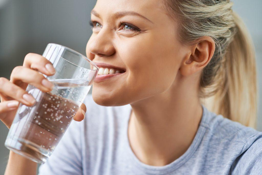 drinking water for healthy refreshment