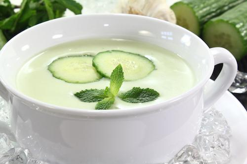 iced cucumber soup