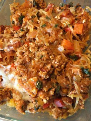 Italian sausage and spaghetti squash recipe