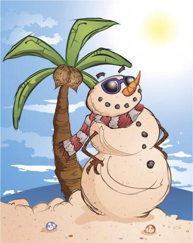 disease prevention, Vitamin D, Sunshine in the winter, tropical snowman