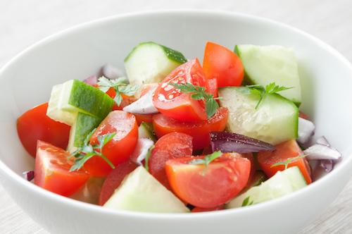 Tomato Onion Cucumber salad