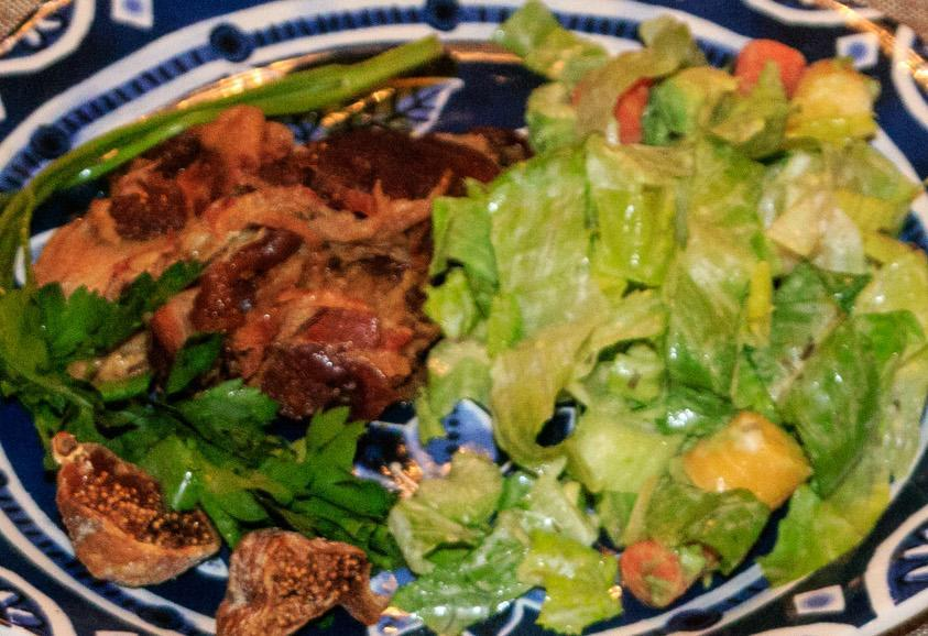 Slow Cooker Pork Shoulder with Bacon and Figs