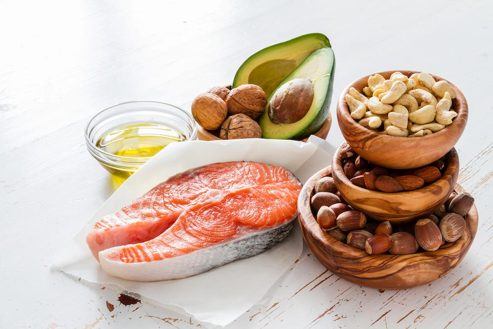 A selection of healthy fat sources