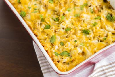Cheesy Shredded Chicken
