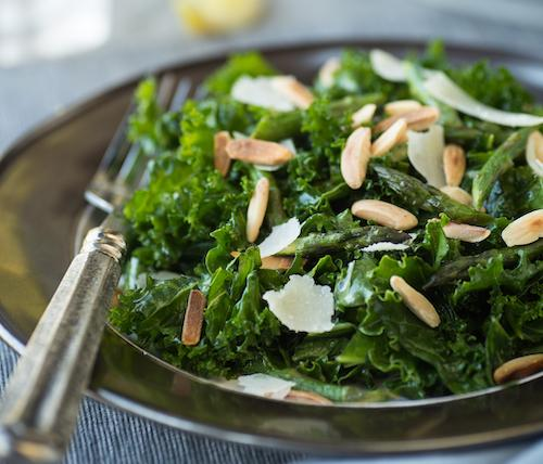 simple summer salad with kale.